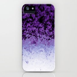 Purple Crystal Ombre iPhone Case