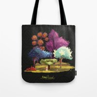 robin hood Tote Bags featuring Robin Hood! The Forest. by Katia Grifols