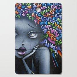 girl letters grafitti Cutting Board