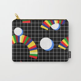 Memphis Grid & Rainbows Carry-All Pouch