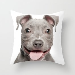 Happy stafford Throw Pillow