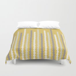 Adelaide Modern Bubbles in Gold - Duvet Cover