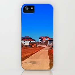 Peaceful countryside village scenery | landscape photography iPhone Case