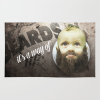 toddler Area & Throw Rugs featuring Beard boy by HappyMelvin