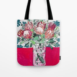 Bouquet of Proteas with Matisse Cutout Wallpaper Tote Bag