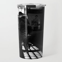 Vancouver charming lights, urban photography, black and white, street photography Travel Mug
