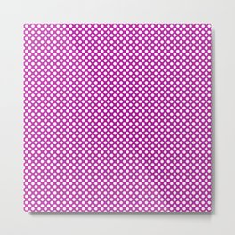 Red Violet and White Polka Dots Metal Print