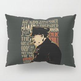 Winston Churchill Pop Art Quote Pillow Sham