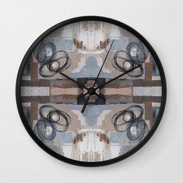 Taupe Grey Pink Mirror Abstract Wall Clock