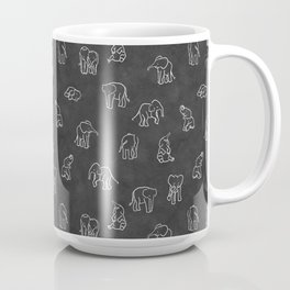 Indian Baby Elephants Blackout Coffee Mug