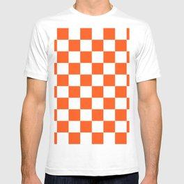 Cheerful Orange Checkerboard T-shirt