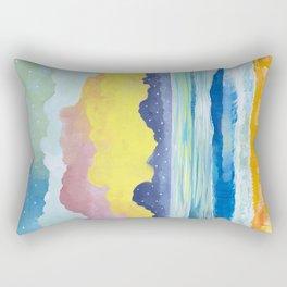 Simple Seascape III Rectangular Pillow