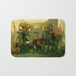 The Bremen Town Musicians, Abstract oil Painting Bath Mat