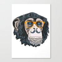 monkey Canvas Prints featuring Monkey! by  Steve Wade ( Swade)