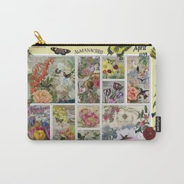 Enchanted Garden Postal Collage Carry-All Pouch