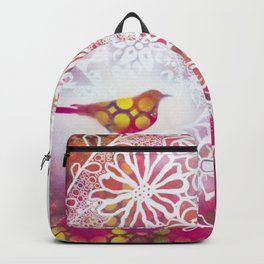 Round Twin Birds Backpack