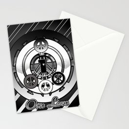 One Love (Black) Stationery Cards