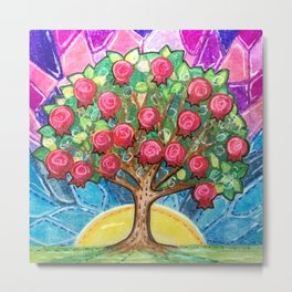 Pomegranate Tree Metal Print