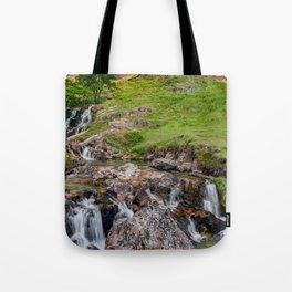 Watkin Waterfall Snowdonia Tote Bag