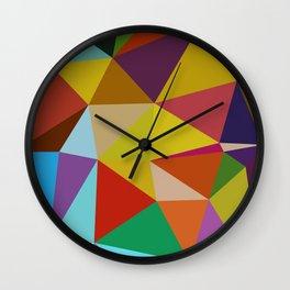 Geometric Abstract Art Pattern Ten Wall Clock