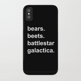 Bears Beets Battlestar Galactica (lowercase white) - the Office iPhone Case