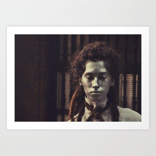 statue girl  Art Print