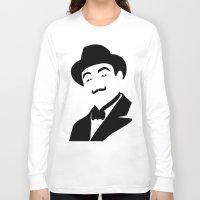 hercules Long Sleeve T-shirts featuring Hercules Poirot by b & c