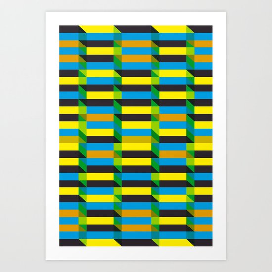 Cinetism and visual effect Art Print