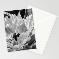 Black and White Peony 2 Stationery Cards