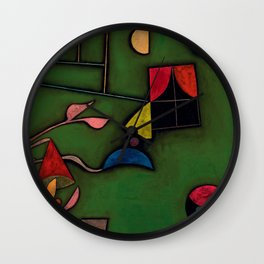 "Paul Klee ""Pflanze und Fenster Stilleben (Still life with Plant and Window)"" Wall Clock"