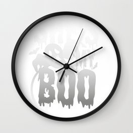 Halloween Couples Funny SHe's My Boo Ghost Wall Clock