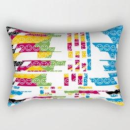 risa  fragmentada Rectangular Pillow
