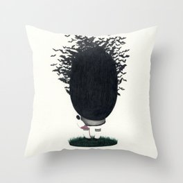 INSIDE MY HEAD Throw Pillow