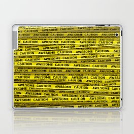 AWESOME, use caution / 3D render of awesome warning tape Laptop & iPad Skin