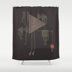 The Joy of Playing Shower Curtain