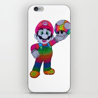 mario bros iPhone & iPod Skins featuring Mario Bros by Luna Portnoi