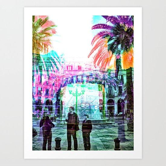 lively veil reels virtue Art Print