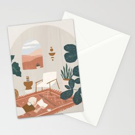 the living room rug Stationery Cards