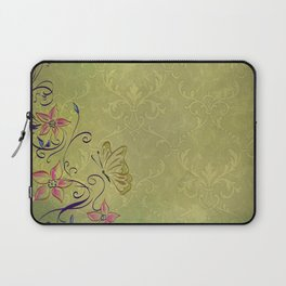 Texture Paper Background Flowers Laptop Sleeve