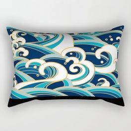 Rubino Sailing Water Great Wave Rectangular Pillow