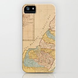 Land of Canaan (Holy Land) Map (1760) iPhone Case