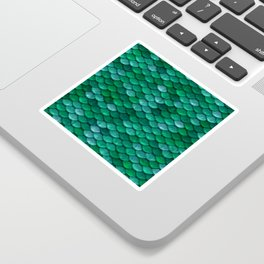 Green Penny Scales Sticker