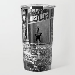 Times Square II (B&W widescreen) Travel Mug