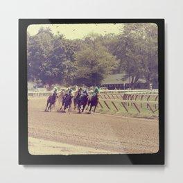 Rounding the Turn horse racing ttv photo Metal Print