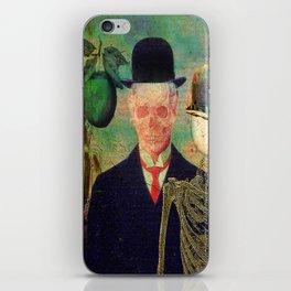 Ceci n'est pas une pomme Monsieur Bone ! iPhone Skin