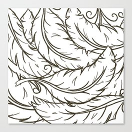 WhiteFeathers Canvas Print