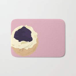 Blueberry Cream Puff Bath Mat