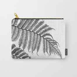 Charcoal Tree Fern Bottoms Up Carry-All Pouch
