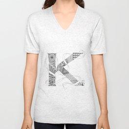 """Zenletter """"K"""" Unisex V-Neck"""