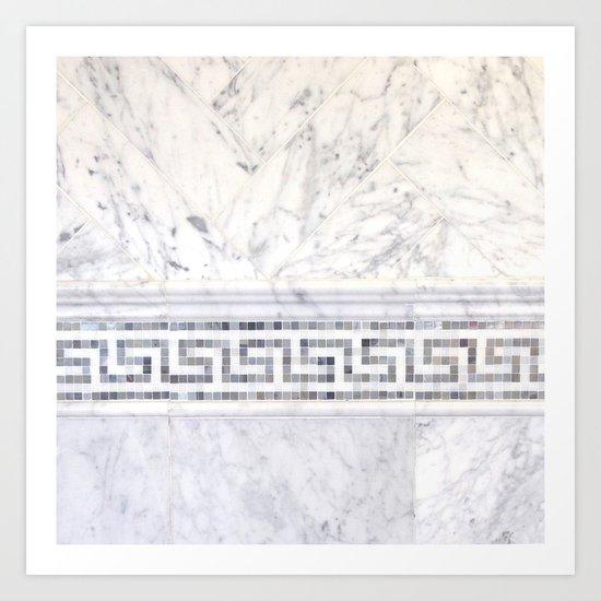 Greek Marble 2 Art Print